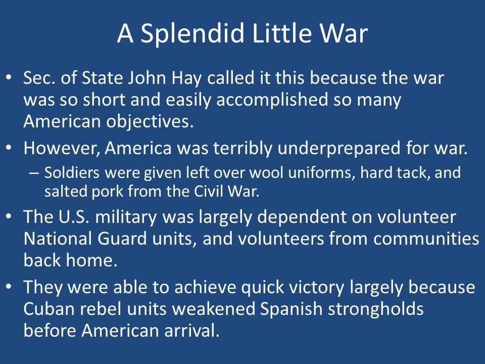 A Splendid Little War Sec.