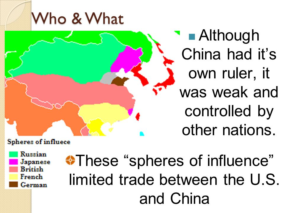 Who & What Although China had it's own ruler, it was weak and controlled by other nations.