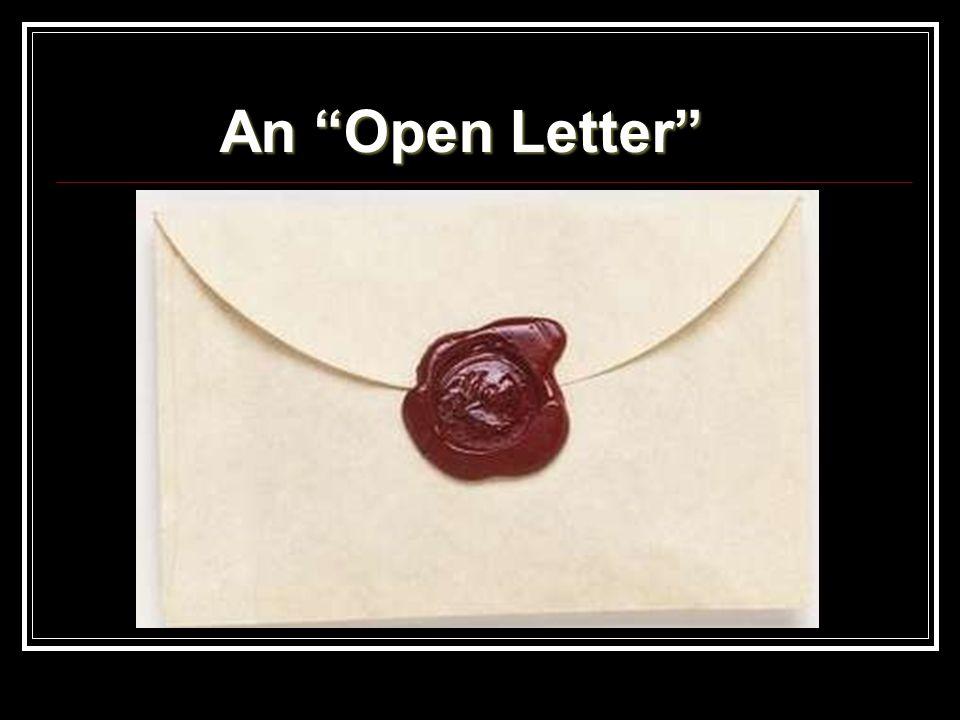 """An """"Open Letter"""""""