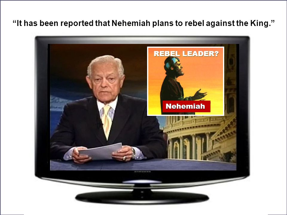 """REBEL LEADER? Nehemiah """"It has been reported that Nehemiah plans to rebel against the King."""""""