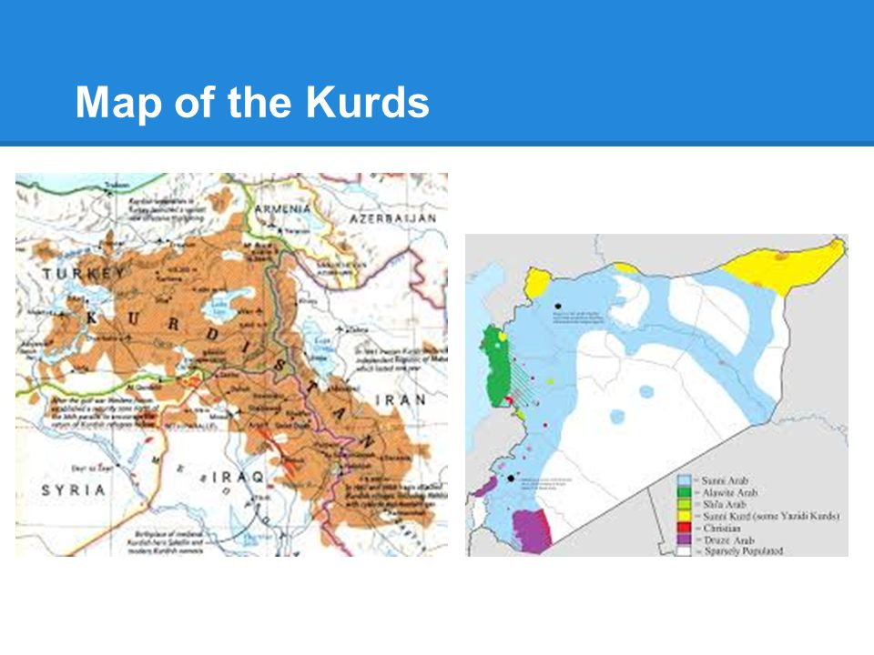 Map of the Kurds