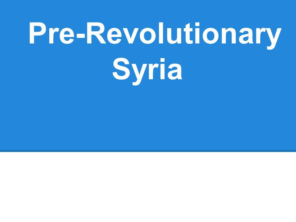 Pre-Revolutionary Syria