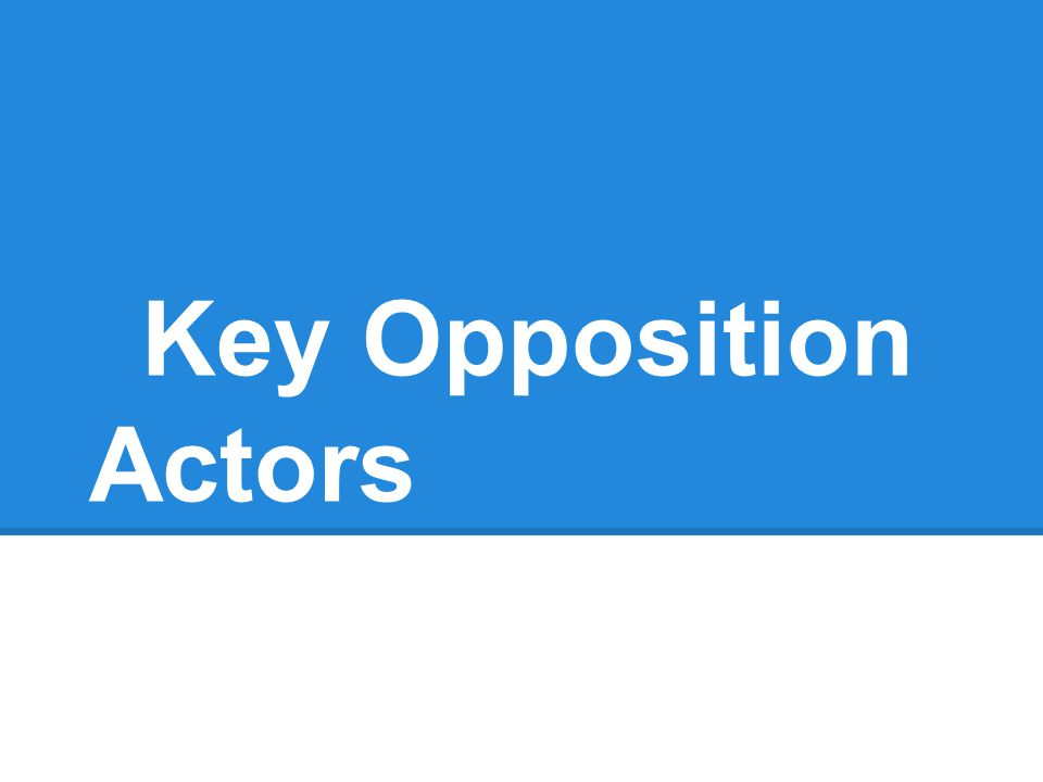 Key Opposition Actors