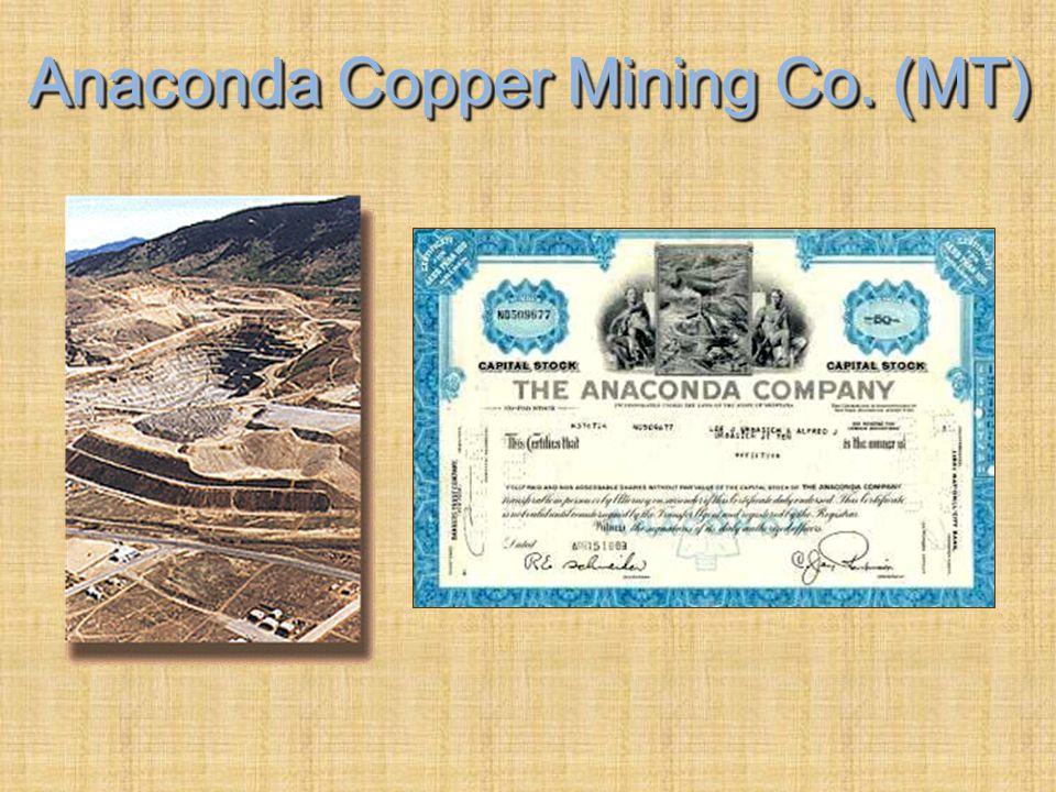 Mining Centers: 1900