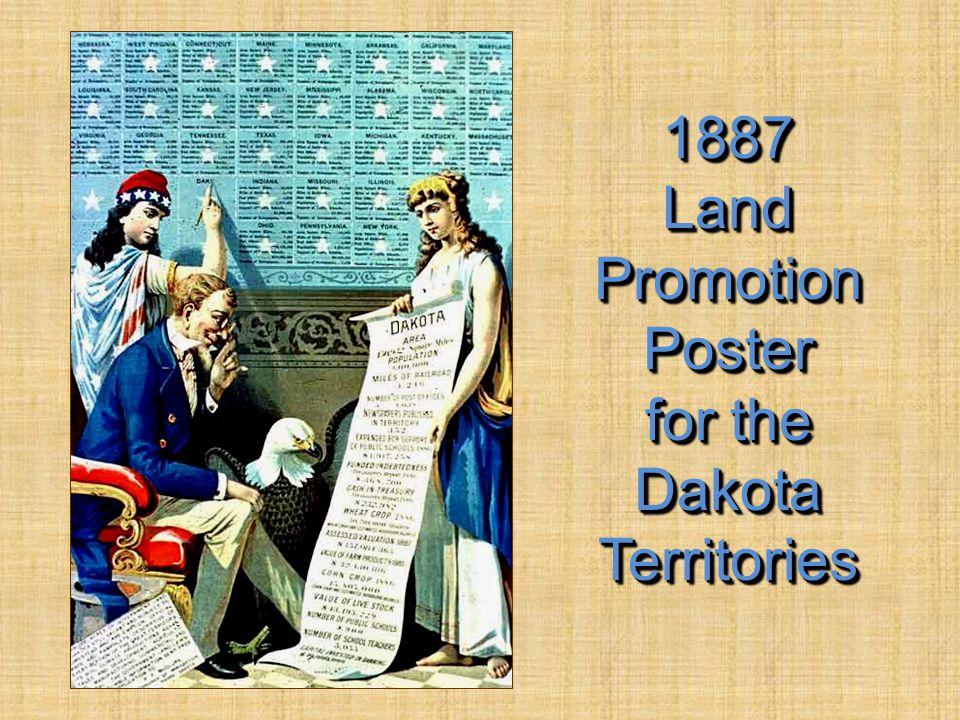 1887 Land Promotion Poster for the Dakota Territories