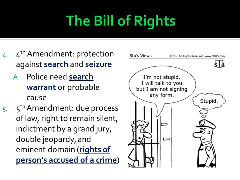 4.4 th Amendment: protection against search and seizure A.