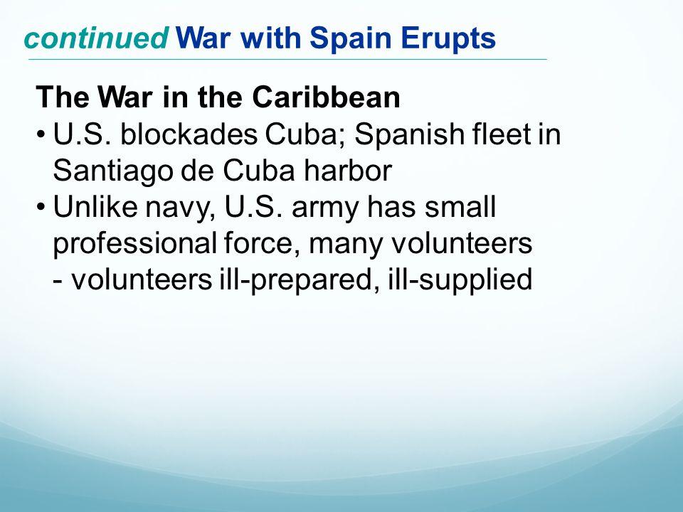 The War in the Caribbean U.S.