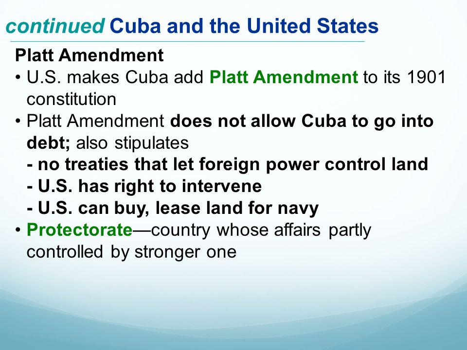 Platt Amendment U.S.