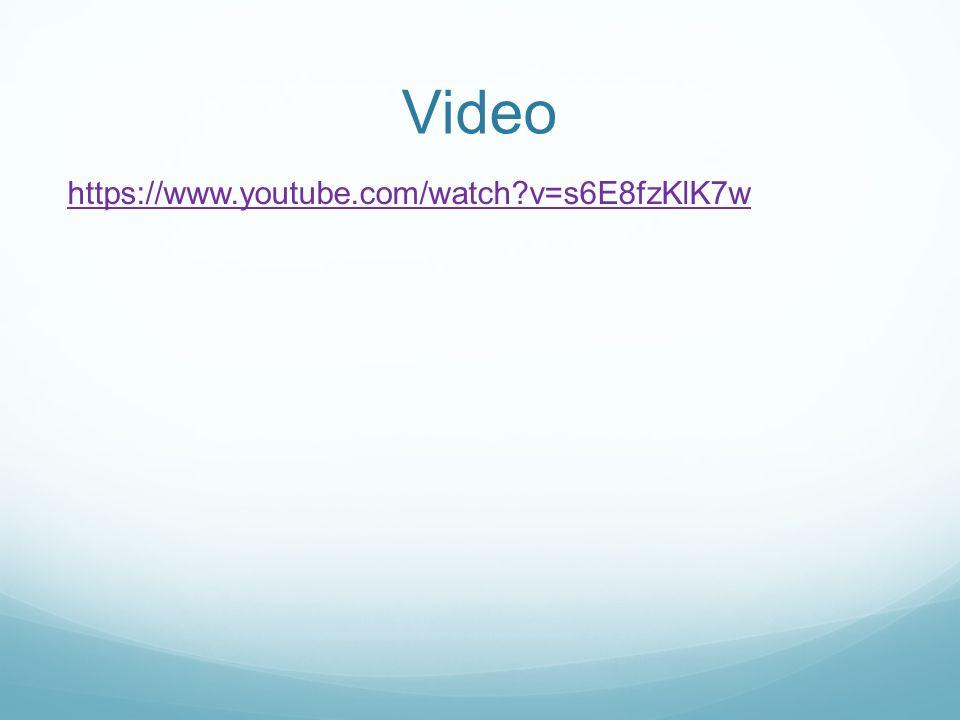 Video https://www.youtube.com/watch v=s6E8fzKlK7w