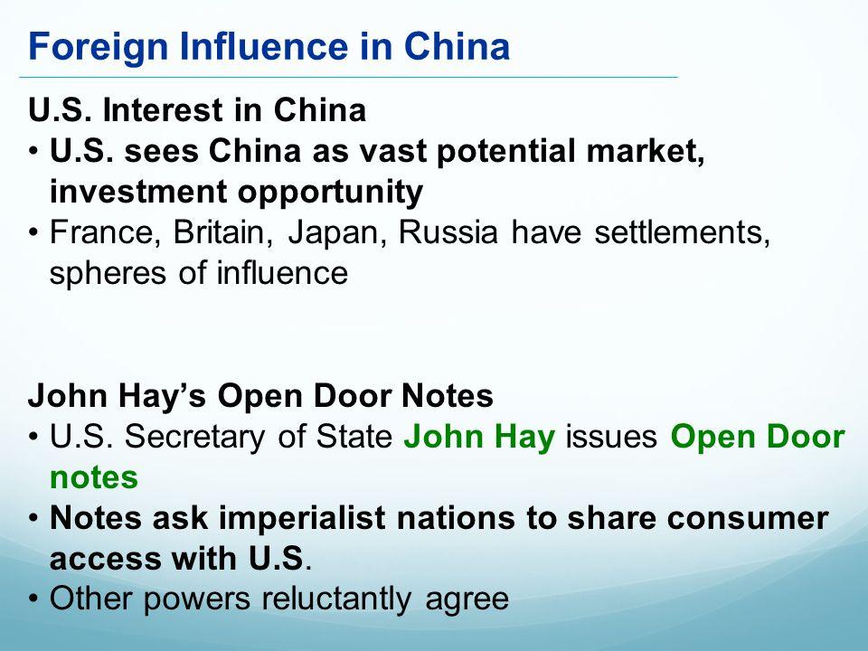 U.S. Interest in China U.S.