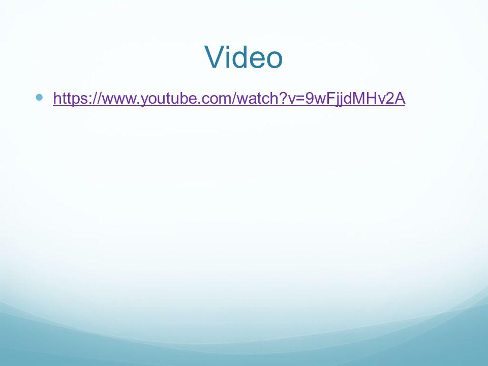 Video https://www.youtube.com/watch v=9wFjjdMHv2A