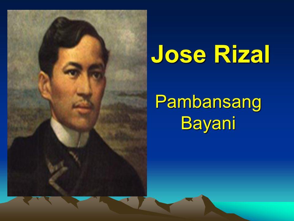 Pambansang Bayani Jose Rizal
