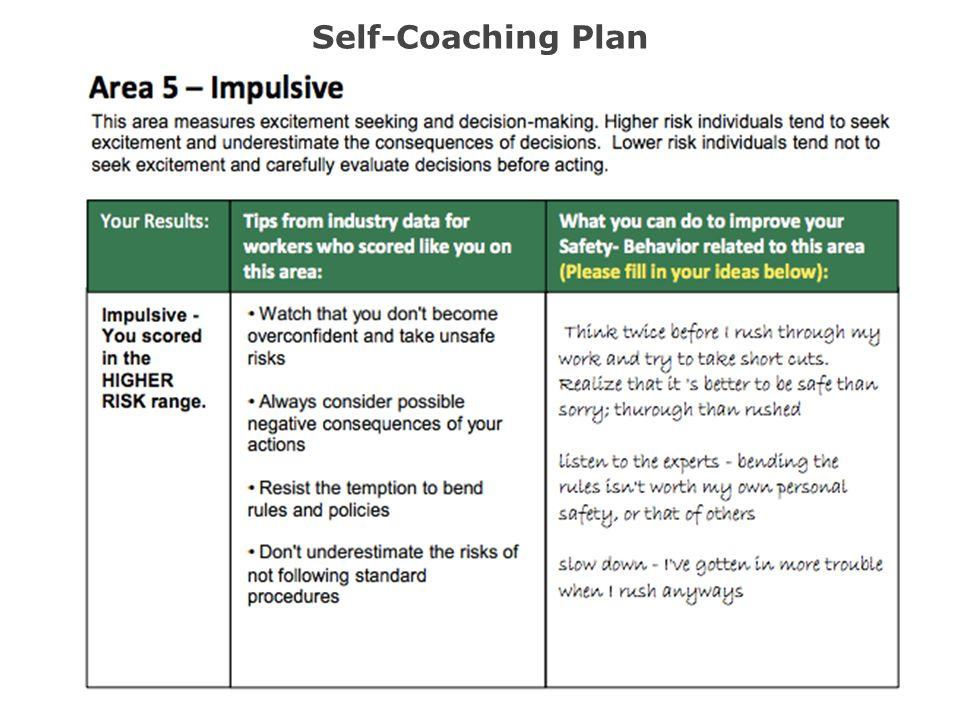 Self-Coaching Plan