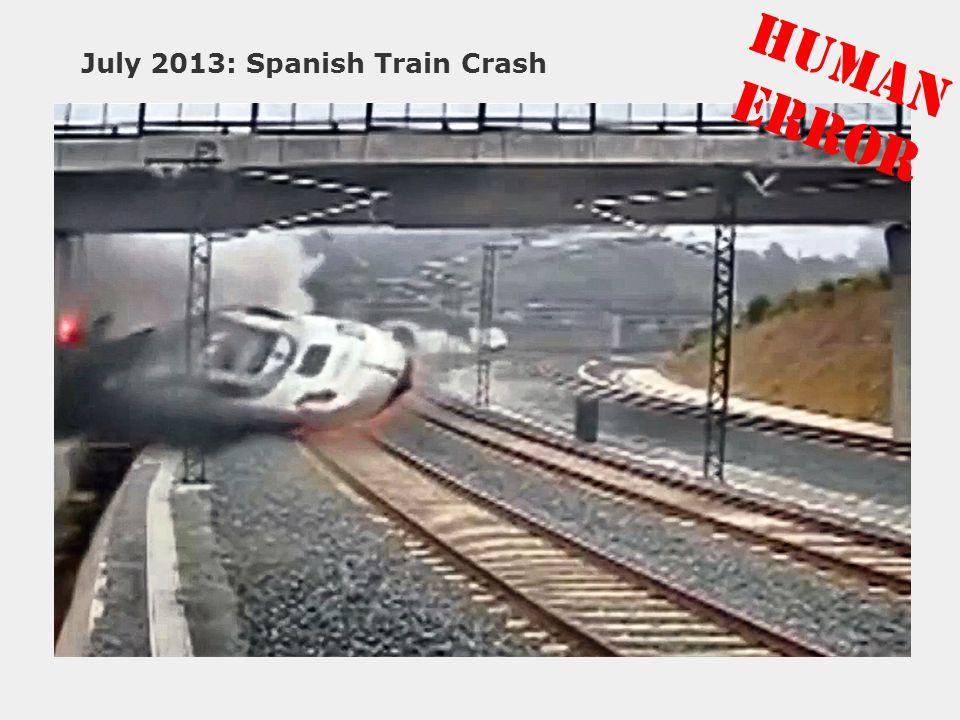 July 2013: Spanish Train Crash HUMAN ERROR