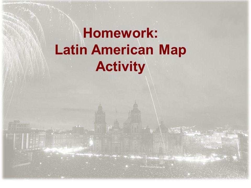 Homework: Latin American Map Activity