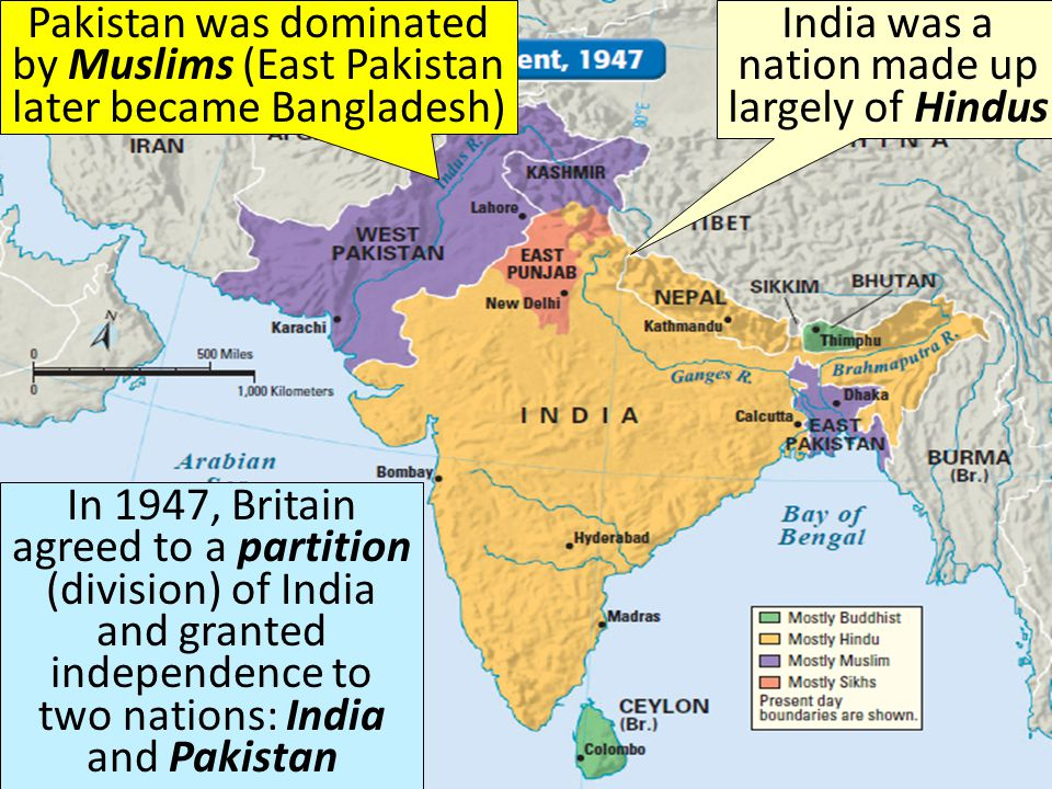 When World War II ended in 1945, Britain was in deeply in debt and ready to grant India its independence After WWII, India was no longer as profitable as it once was for Britain; also, Britain was in no shape to fight after WWII and could not put down an Indian rebellion