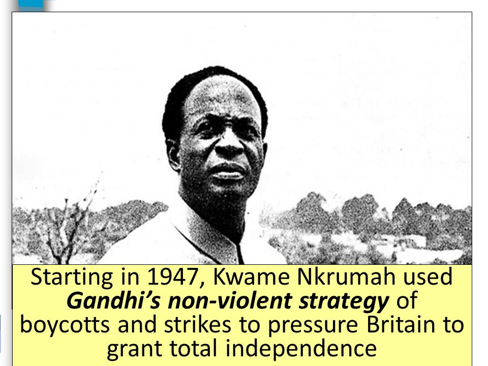 As an imperial power, Britain conquered much of Africa, including the Gold Coast After WWII, Britain allowed Africans in Gold Coast to participate in local self- governments