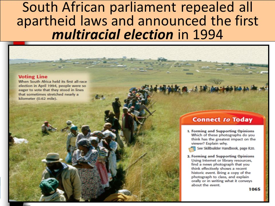 In 1990, new South African President F. W. de Clerk released Mandela from prison