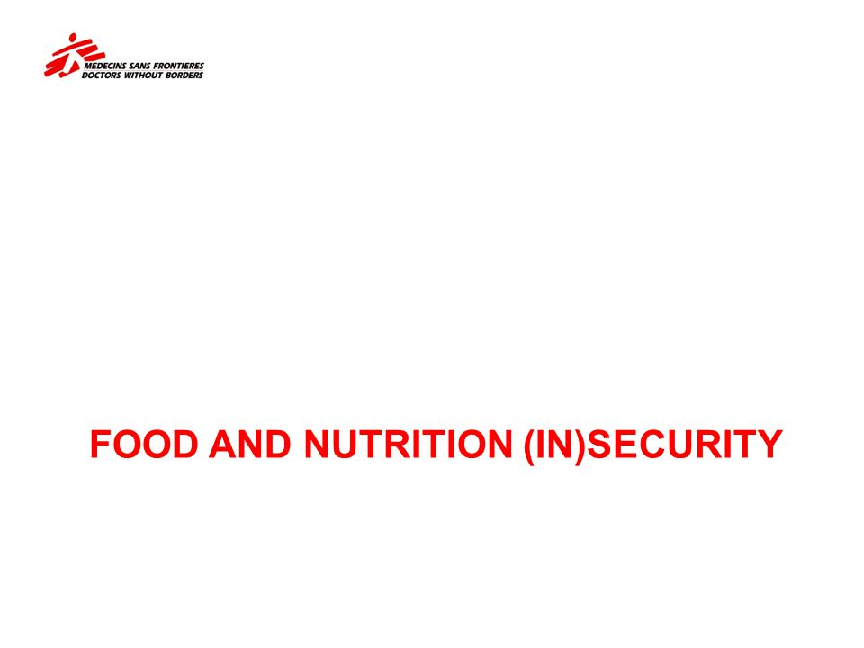 FOOD AND NUTRITION (IN)SECURITY