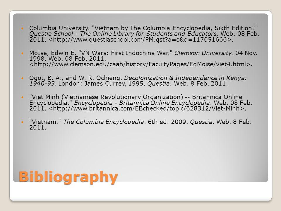 Bibliography Columbia University.