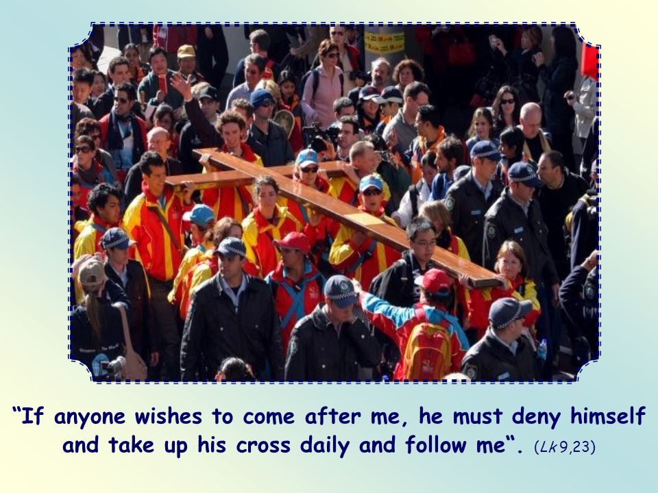 And you will no longer envy anyone.Then you will be able to call yourself a follower of Christ.
