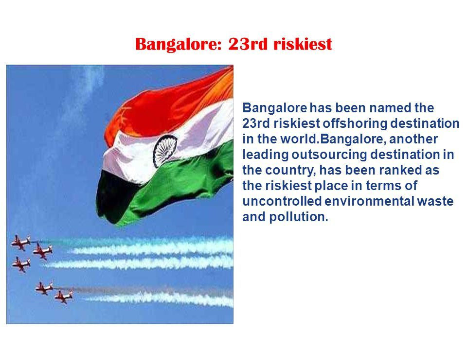 Chennai: 21st riskiest in the world Chennai has been ranked the 21st riskiest offshoring destination in the world.
