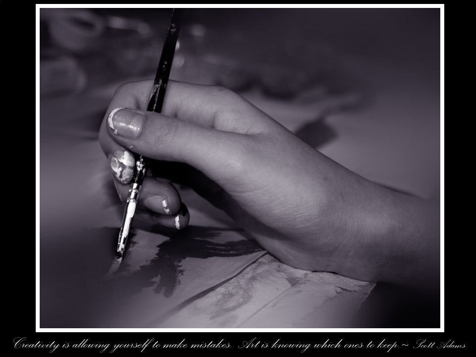 Creativity is allowing yourself to make mistakes. Art is knowing which ones to keep.~ Scott Adams