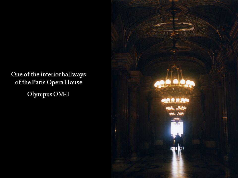 One of the interior hallways of the Paris Opera House Olympus OM-1