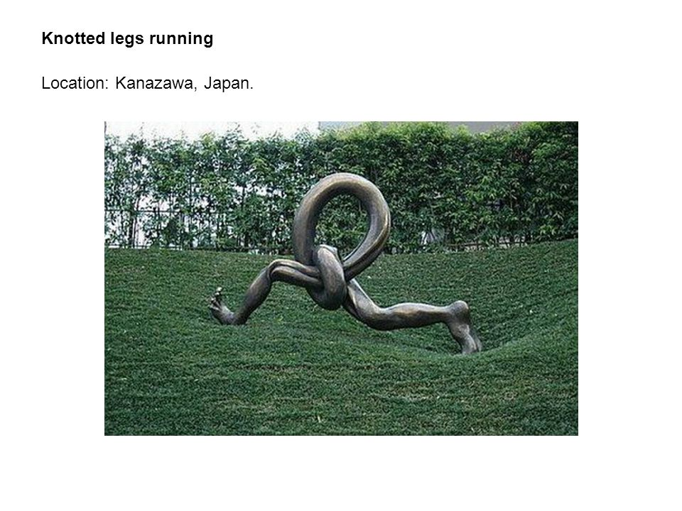 Knotted legs running Location: Kanazawa, Japan.
