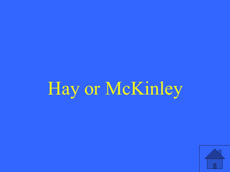 Hay or McKinley
