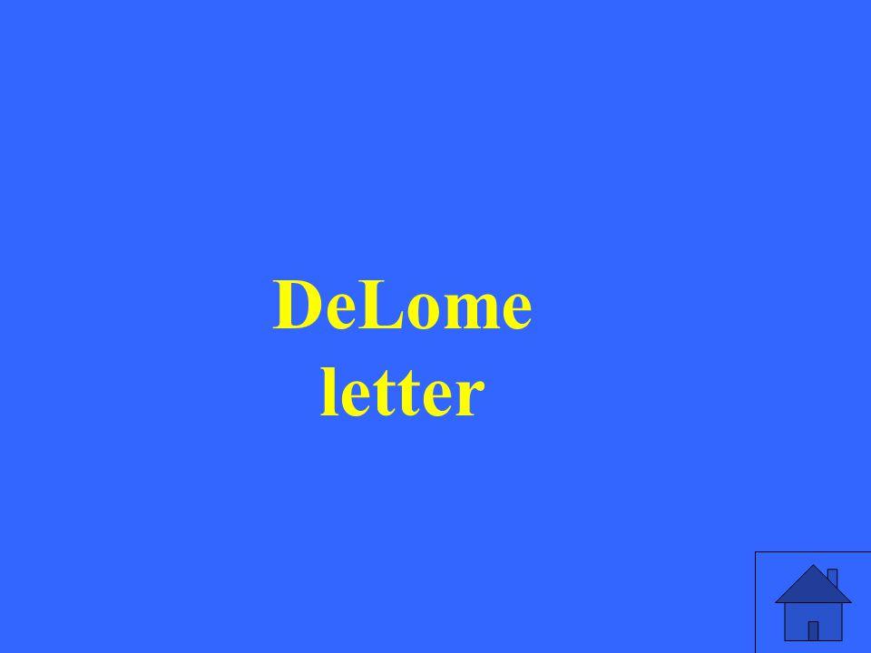 DeLome letter