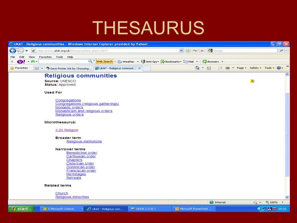 THESAURUS