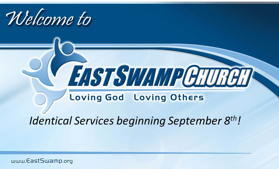 Identical Services beginning September 8 th !