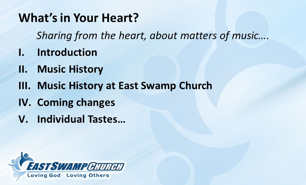 What's in Your Heart. Sharing from the heart, about matters of music….