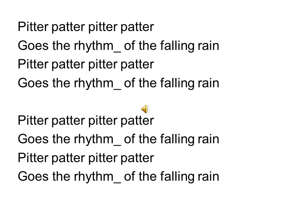 Part II Listen to the rhythm of the falling rain_ Listen to the rain_ Rhythm of the rain.