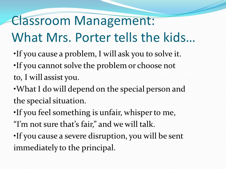 Classroom Management: What Mrs.