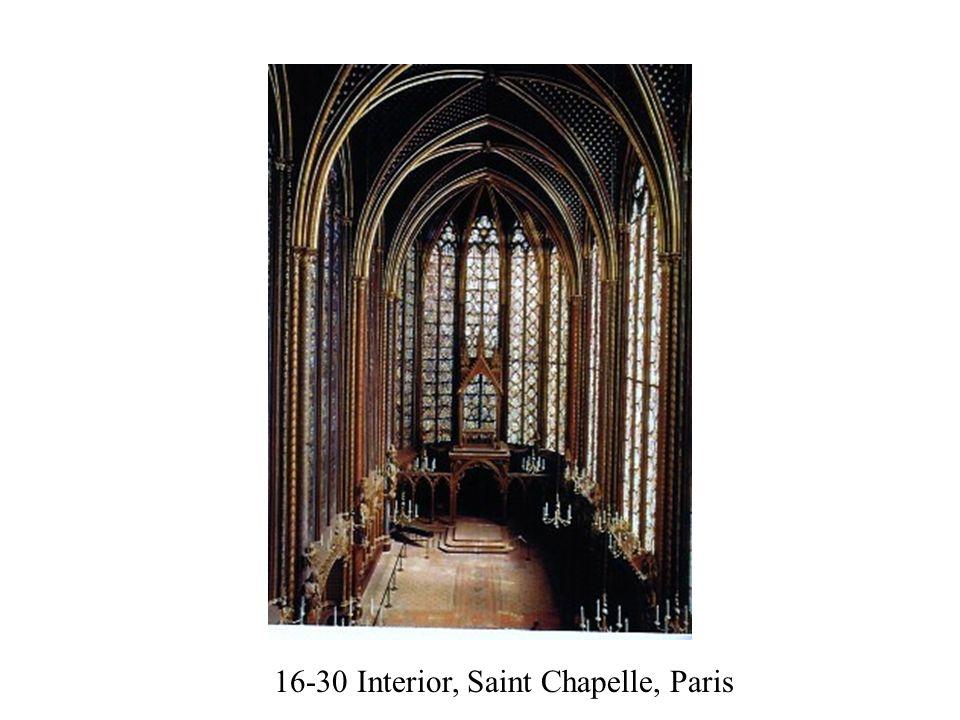 16-30 Interior, Saint Chapelle, Paris
