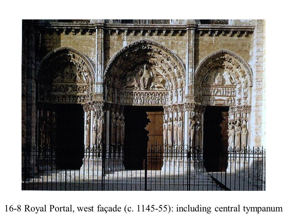 16-8 Royal Portal, west façade (c. 1145-55): including central tympanum