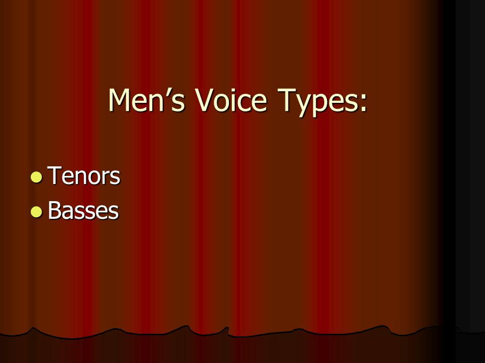 Women's Voice Types: Sopranos Sopranos Altos Altos