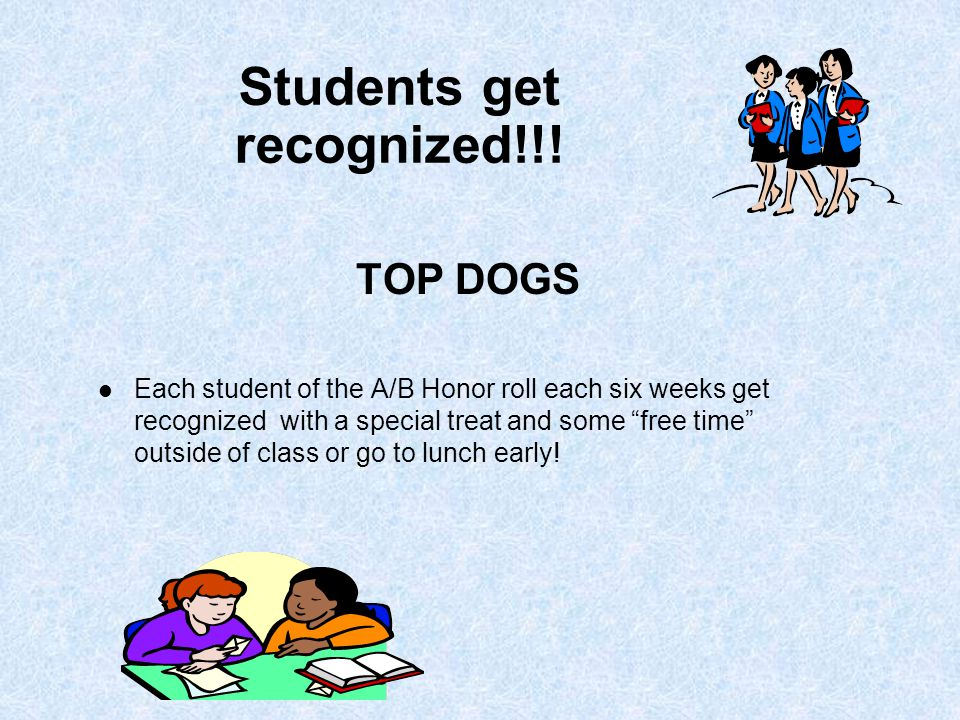 Students get recognized!!.