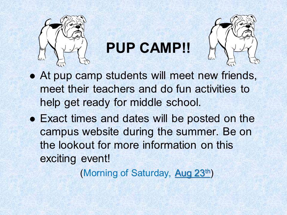PUP CAMP!.