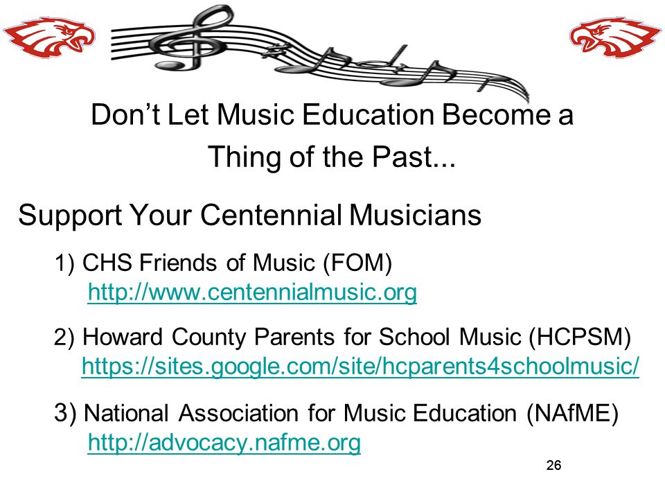 26 Don't Let Music Education Become a Thing of the Past...