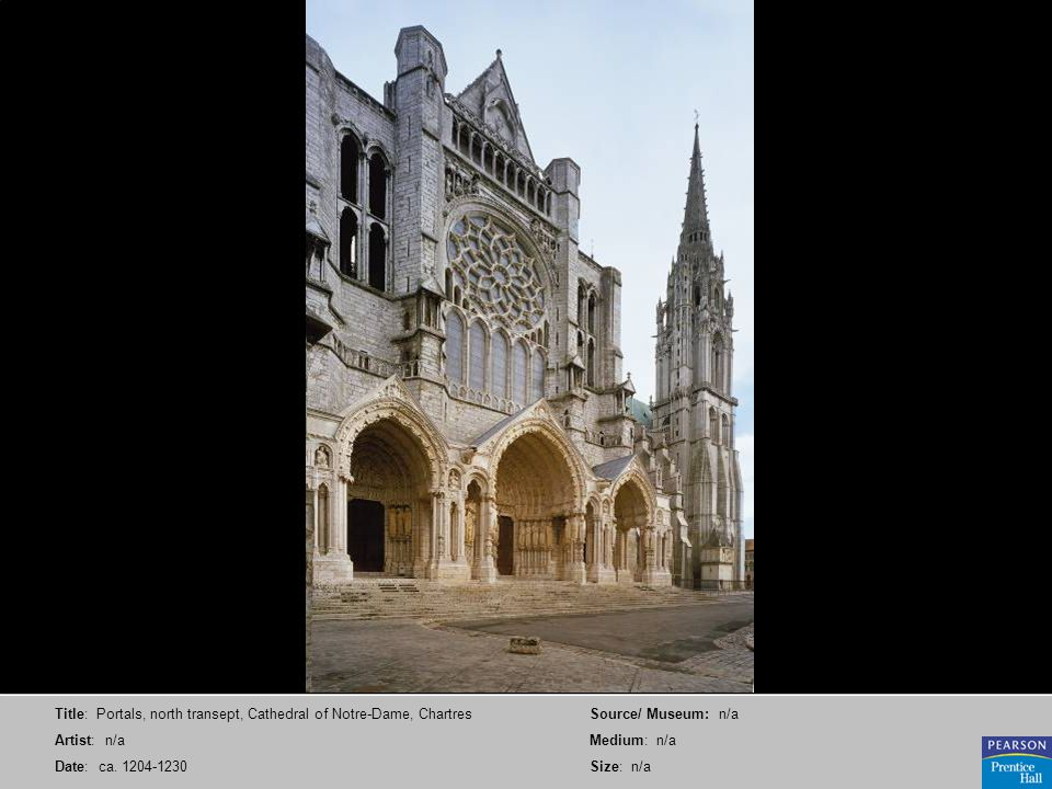 Title: Portals, north transept, Cathedral of Notre-Dame, Chartres Artist: n/a Date: ca. 1204-1230 Source/ Museum: n/a Medium: n/a Size: n/a