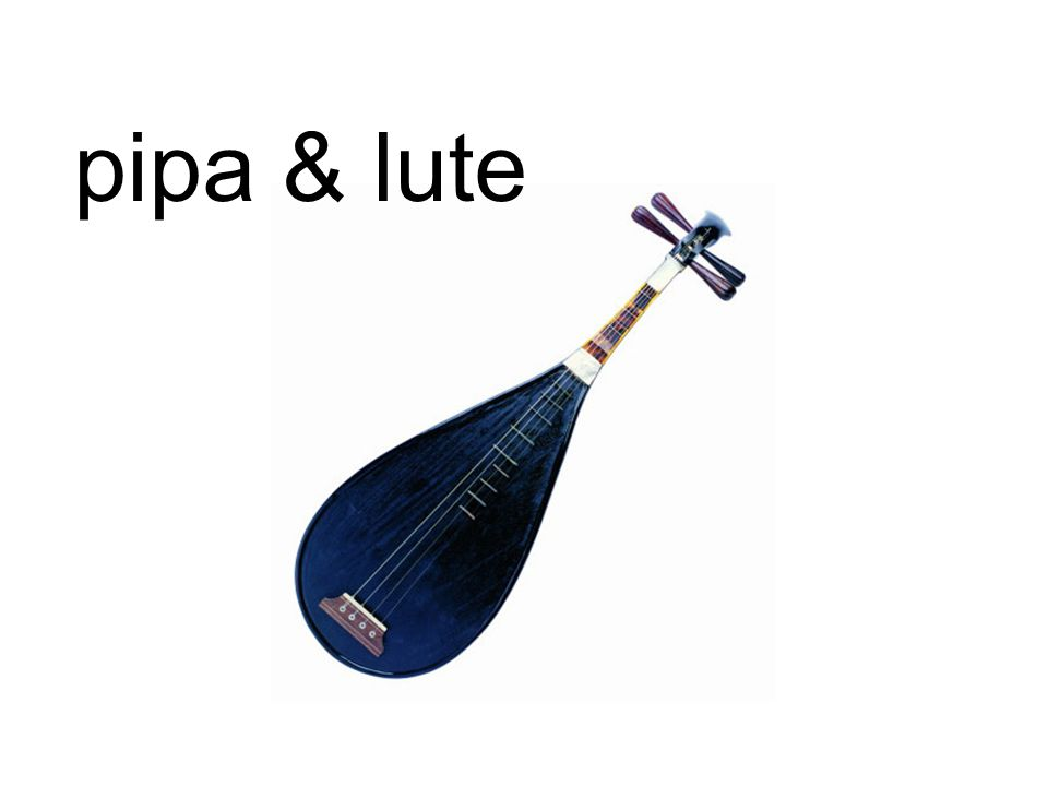 pipa & lute