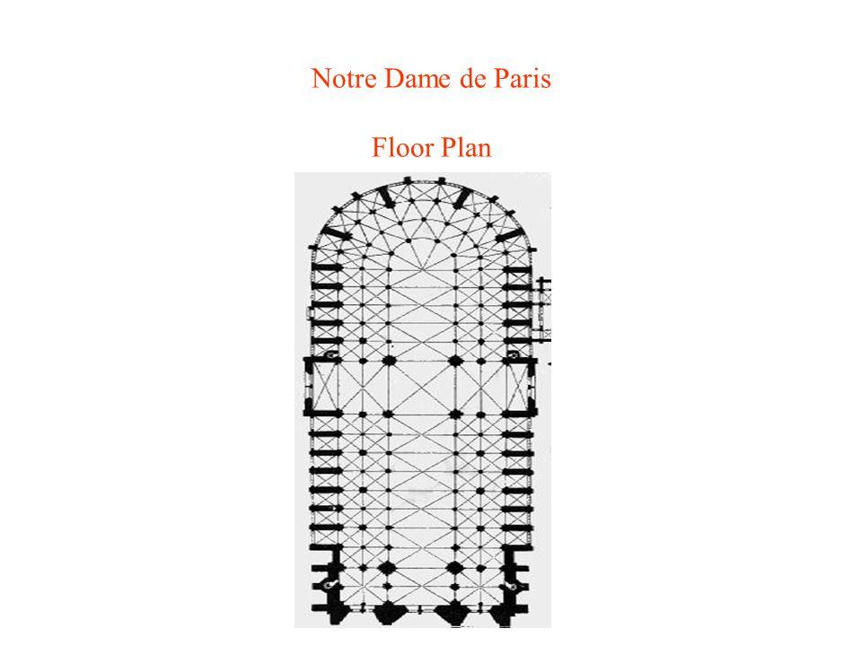 Notre Dame de Paris Floor Plan
