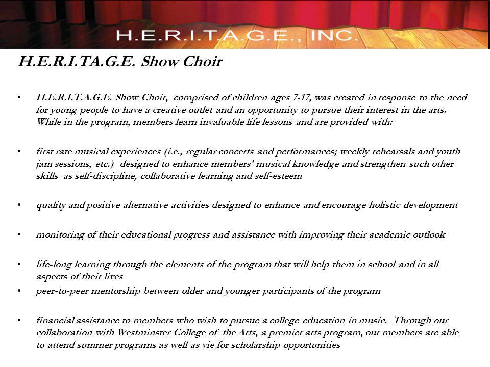 H.E.R.I.TA.G.E. Show Choir H.E.R.I.T.A.G.E.