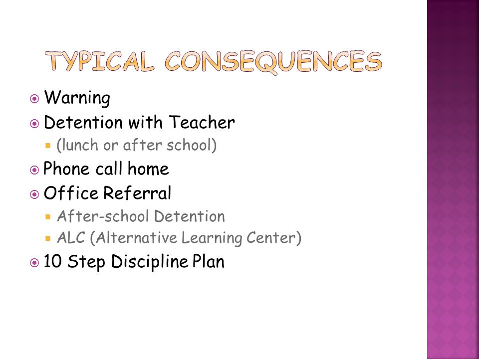  Homework  May consist of unfinished classwork  Reinforces concepts taught in class  Very important part of grade.