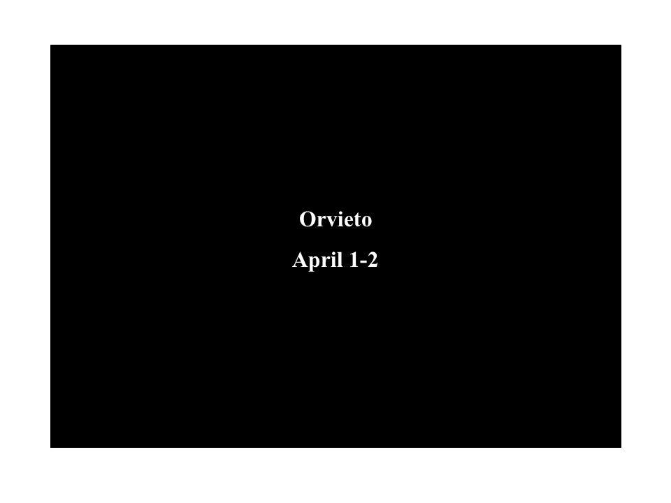 Orvieto April 1-2