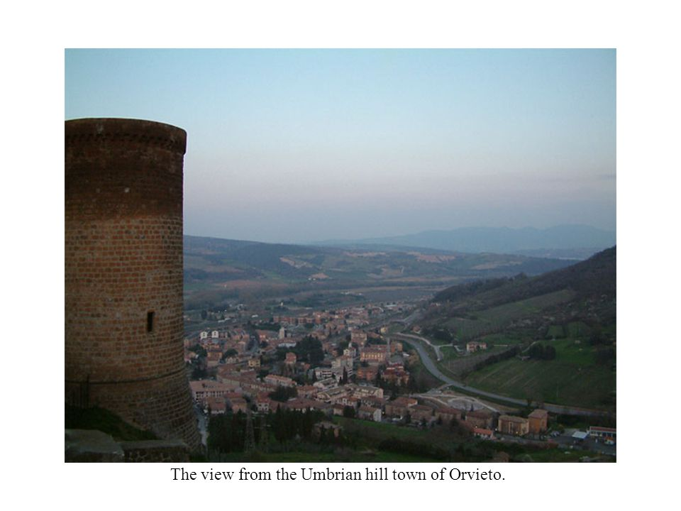 The view from the Umbrian hill town of Orvieto.