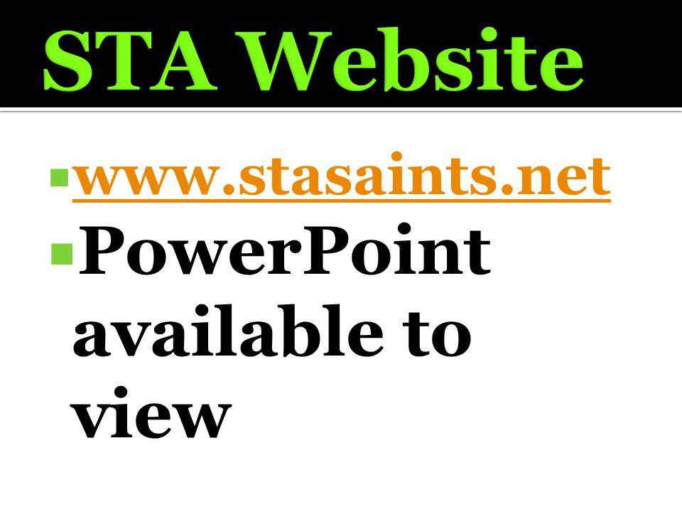  www.stasaints.net www.stasaints.net  PowerPoint available to view